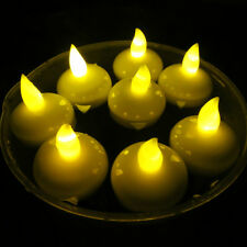 Waterproof LED Floating Light Flameless Candle Halloween Christmas Party  Yellow