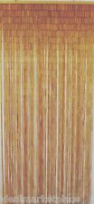 2 Pack New Beaded Curtain Natural Bamboo Doorway Decor