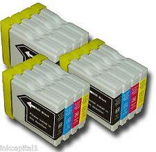 12 x Inkjet Cartridges Compatible For Printer Brother MFC-5860CN, MFC5860CN
