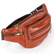 New Men's Travel Messenger Shoulder Sling Chest Fanny Pack Waist Bag Bags Brown