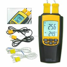 Digital K / J Type Thermocouple Thermometer 4 Probes