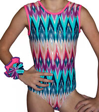 Girls gymnastics  Leotard  &  Hair Scrunchie size 30 age 9 -10