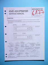 Service Manual Instructions For Kenwood KMD-X91/KMD-PS970R ,ORIGINAL