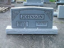 Granite Headstone Grave Marker- gray- multiple engraving options 48 x 6 x  24""