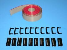 IDC Cable Ribbon Cable Connector Kit 12 Ft 24-Pin (2x12) , Fast ship from USA