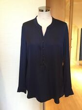 Gerry Weber Blouse Size 10 BNWT Navy RRP £75 Now £29