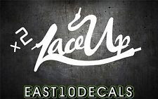 Lace UP MGK vinyl decal sticker windshield banner wall