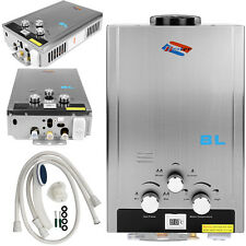 Home 8L Tankless Instant Water Heater Boiler Natural Gas Water Heater + Showers