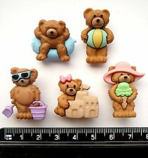 Dress it up buttons ** Summer Bears ** great  for cards and crafts