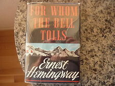 For Whom The Bell Tolls by Ernest Hemingway. 1st ed, 1st issue in dust jacket