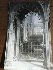 c1914 B/W Postcard Beverley Minster Organ Screen East Yorkshire Posted