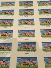 21 Paw Patrol Personalised Party Bag Stickers Favour Labels