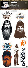 DUCK DYNASTY wall stickers 6 decals Phil Si Willie Jase decor quotes Rednecks