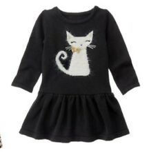 NWT Gymboree CATASTIC Cat Sweater Dress Black NEW Girls 2t
