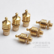 4pcs Copper Gilded Speaker spikes Isolation Spike Speaker Stand Foot pads