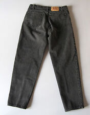 Vintage Mens Levi's 550 Black Jeans Relaxed Tapered 34 x 30 Denim USA 32 x 29
