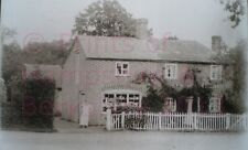 """PRINT 10"""" X 7""""  MR COOPERS BAKERS SHOP AND JUBILEE COTTAGE ASHFORD HILL HAMPSHIR"""