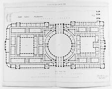 Old antique print london westminster public bureaux architecte plan c1899