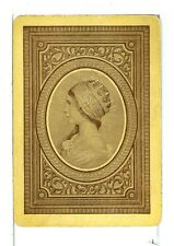 """Single Old Wide Playing Card Vintage """"Princess"""" yellow/brown"""
