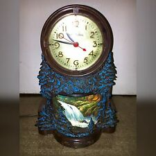 Vintage Mastercrafters  Lighted Model 344 Waterfall Clock WORKS!
