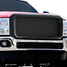 1PC PACKAGED BLACK MESH GRILLE GRILL FITS 2011-2016 FORD F-250/350 SUPER DUTY