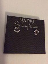 $45 Nadri Sterling Sliver Round Earrings  Earrings #227