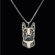❤️ Halskette mit Anhänger  Boston Terrier, Hundekopf, pendant, necklace