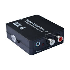 Digital Optical Coaxial to Analog 3.5mm Jack RCA Audio Decoder Converter Adapter