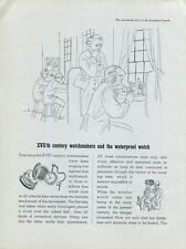 1948 Rolex Watch Company XVIIth Century Watchmakers Swiss Print Ad Suisse 1940's