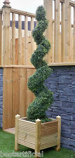 Best Artificial 5ft 150cm Topiary Spiral Boxwood Buxus Outdoor Tree Ball Bay New