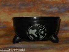 New OM Symbol Soapstone Bowl Incense Resin Burner Offering Bowl Handcarved