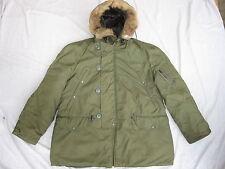 Vtg 1972 Vietnam USAF N-3B Size L Cold Weather Flight Jacket Parka Coyote Hood
