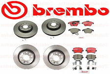 Volkswagen GTI 2006-2011 Front + Rear Brake Kit Rotors and Pads Brembo OEM