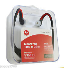 New Motorola S10-HD Sound Wireless Bluetooth Stereo Headphones Black Red RETAIL