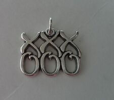 Sterling Silver 15x18mm Kisses and Hugs says XOXO Love Charm
