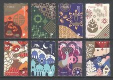 SINGAPORE 2016 FESTIVALS COMP. SET OF 8 STAMPS IN MINT MNH UNUSED CONDITION