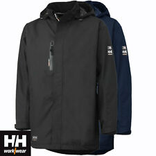 Helly Hansen Haag parka jacket full zip hood black large L work rain Bnwt