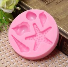 STARFISH & SHELL Silicone Mould, Cake Decorating, Sugarcraft, Fondant, Chocolate