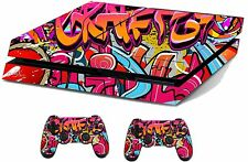 Graffiti Hop Sticker/Skin PS4 Playstation 4 Console/Remote controller,ps4sk13