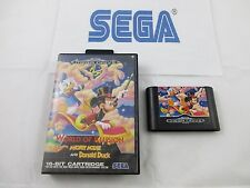 sega mega drive: WORLD OF ILLUSION starring mickey mouse and donald duck