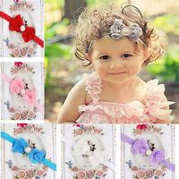 Baby Girl Kid Pearl Headband Rose Bow Lace Flower  Baby Hairband  likable