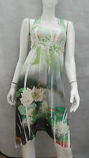 LADIES JANE NORMAN EVERY-DAY WEAR SUMMER DRESS 'GARDEN SCENE' SIZE 10