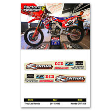 2014-2017 Honda CRF 250 TLD Swing Arm Stickers dirt bike graphics by ENJOY MFG