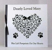 Large Personalised Pet Bereavement Card Loss of Pet Sympathy Cat/Dog