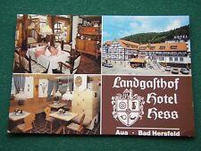 LANDGASTHOF HOTEL HESS BAD HERSFELD POSTCARD