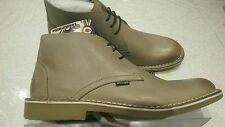 LAMBRETTA CANARY DESERT BOOTS MID Classic Leather Taupe Lace Up UK size 9