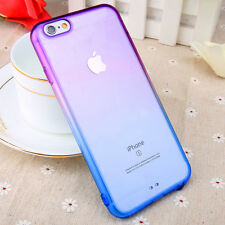 Ombre Shockproof Silicone Gel Rubber Clear Back Case Cover For iPhone 6 6S Plus