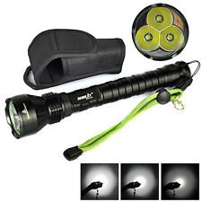 3T6 Boruit  4000LM 3x XM-L T6 LED 18650 Tactical Flashlight Torch Light +Hoster