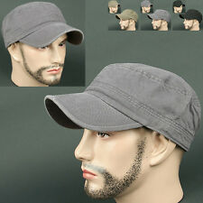 Cadet Box NVC dark GRAY Army Military Distressed Vintage Look Visor CAP HAT