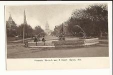 Lincoln NE Thompson Fountain at Eleventh and J Streets 1907 UDB Post Card